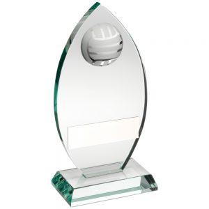 glass netball trophy