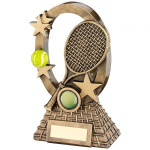oval tennis trophy